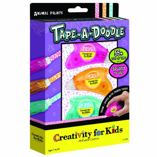 Creativity for Kids Tape-a-Doodle Animal Prints