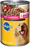 PEDIGREE Meaty Ground Dinner With Chopped Beef Canned Dog Food 22 Ounces (Pack of 12)