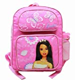 Medium Backpack - Barbie - with Water Bottle - Pink 2 Butterfly
