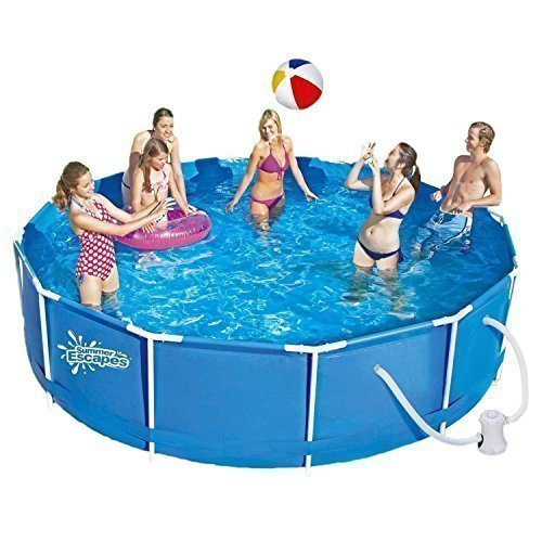 Summer Escapes Frame Pool 366x91cm Rahmen Swimming Pool Familien Schwimmbad mit Filterpumpe