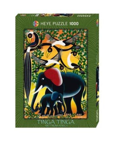 Puzzle 1000 Teile Elephant Family John Kilaka