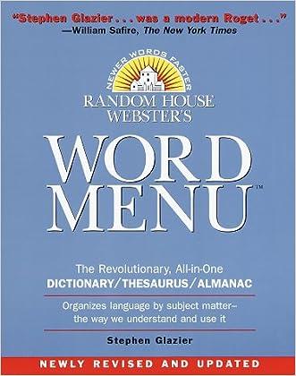 Random House Webster's Word Menu (Random House Newer Words Faster)