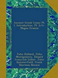 img - for Ancient Greek Coins: Pt. I. Introduction. Pt. Ii-Iv. Magna Graecia book / textbook / text book