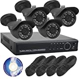 【SKY Electronics】 防犯カメラ 屋外 4台 2TB 録画 セット SET-A101g 監視カメラ 防水