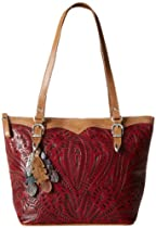 American West Birds Of A Feather Shoulder Bag,Distressed Red,One Size