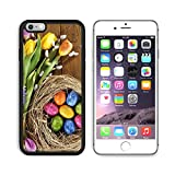 MSD Apple iPhone 6 Plus iPhone 6S Plus Aluminum Plate Bumper Snap Case Easter nest with many colored hen s eggs tulip hyacinth and pussy willow on old wooden board 36010340