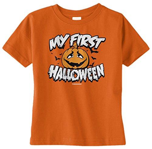 Threadrock Unisex Baby My First Halloween Infant T-Shirt 12M Orange front-1027550