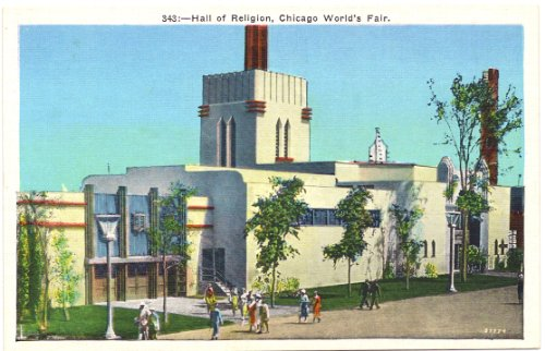 1930s Vintage Postcard - Hall of Religion - A