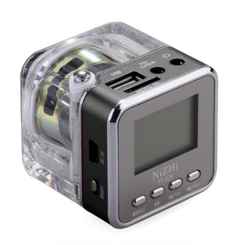 Rainbow Black Tt028 Portable Mini Card Speaker Small Audio Subwoofer Usb Flash Drive Mp3 Player Radio