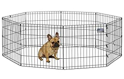 MidWest Exercise Pen, 24-Inch, Black