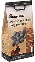 Landmann 9520 Briquettes Charbon de Bois Premium Noir 3 kg 24 x 15 x 60 cm