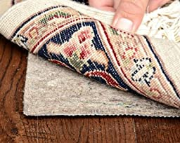 Plush, Reversible, 2\' x 8\' SUPREME HOLD(TM) Felt/Rubber Runner Rug Pad for Hard Floors/Carpet