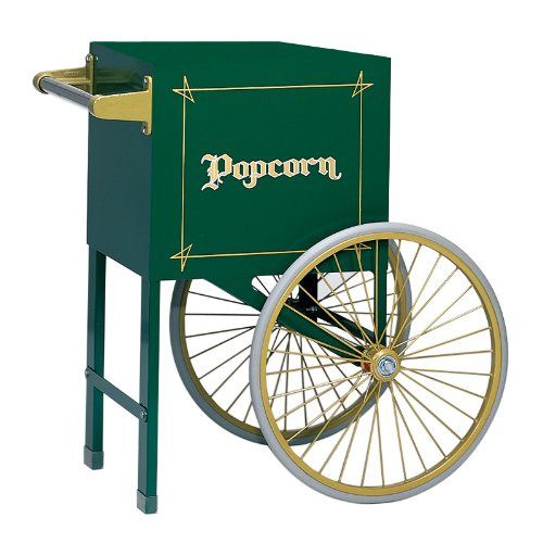 Gold Medal 2659Hg 18In. Popcorn Cart Green