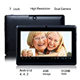 """Product B00P0RKK12 - Product title Generic 7"""" Tablet Android 4.4.2 Tablet PC, HD Multi-touch Screen, Allwinner A23 Dual Core Cortex A7 1.5GHz, 512MB Ram, 4G Storage, Dual Camera WIFI Pad Black"""