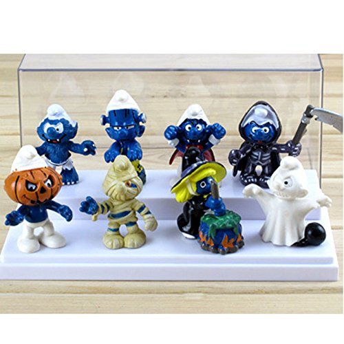 [New Cute 8PCS The Smurfs Papa Smufette Halloween Collection Figures Toy Doll Set] (666 Halloween Costume)