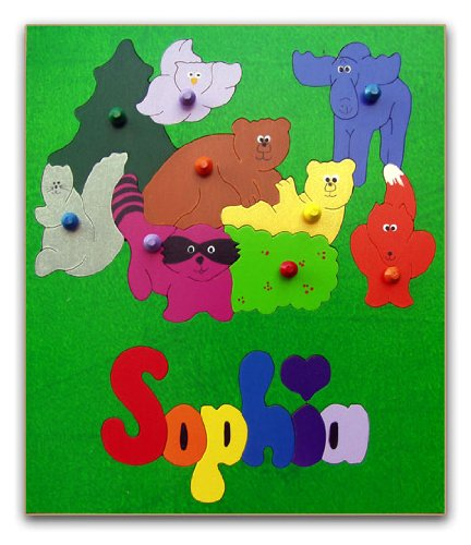Cheap KidPuzzles Wood Name Puzzle for Kids Woodland Animals (B00564HJR2)