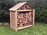 Log Store, Large Apex Pressure Treated Log Store