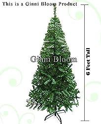 Ginni Bloom Artificial Christmas Tree (Green 6 Feet Tall)