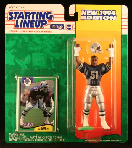 KEN NORTON / DALLAS COWBOYS 1994 NFL Starting Lineup Action Figure & Exclusive NFL Collector Trading Card