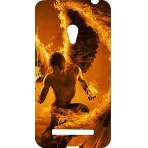 Casotec Fire Man Design Hard Back Case Cover for Asus Zenfone 5
