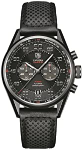 Tag Heuer Carrera Black Dial Black Leather Mens Watch CAR2B80.FC6325