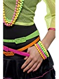 Smiffy's Beaded Bracelets Neon (Assorted Colours)