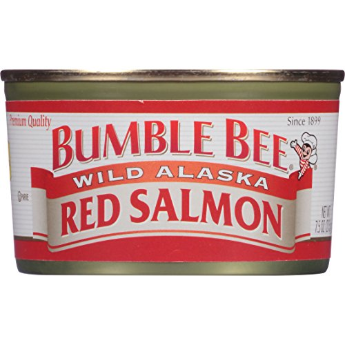 Bumble Bee Wild Alaska Red Salmon, 7.5 Ounce Cans, 12 Count (Bumble Bee Canned Salmon compare prices)