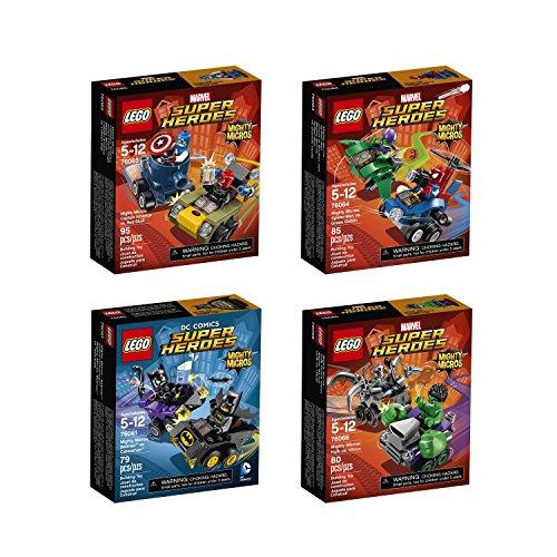 Lego Mighty Micros Super Heroes Bundle: Batman vs. Catwoman 76061, Spider Man vs. Green Goblin 76064, Captain America vs. Red Skull 76065 and Hulk vs. Ultron 76066 (Spiderman Vs Captain America compare prices)