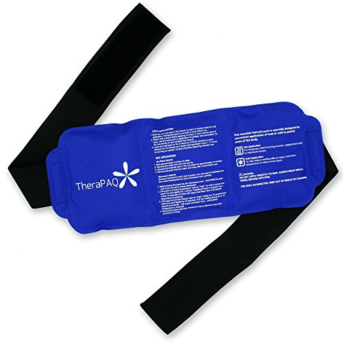 Pain Relief Ice Pack with Wrap for Hot & Cold Therapy - Reusable Gel Pack for Injuries | Best as Heat Wrap or Cold Pack for Back, Waist, Shoulder, Neck, Ankle, Calves and Hip (Large pack: 14