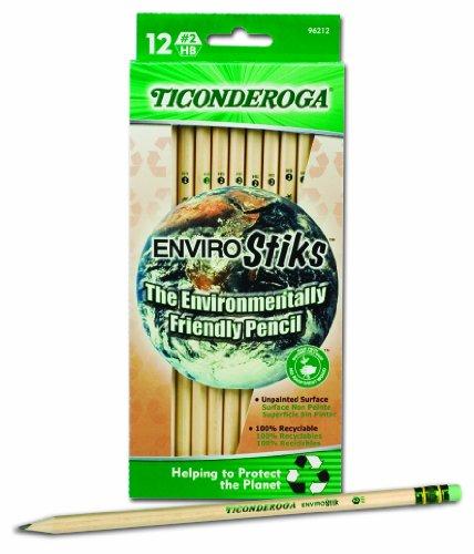 Dixon-Ticonderoga-EnviroStiks-Natural-Wood-2-Pencils-Box-of-12-96212