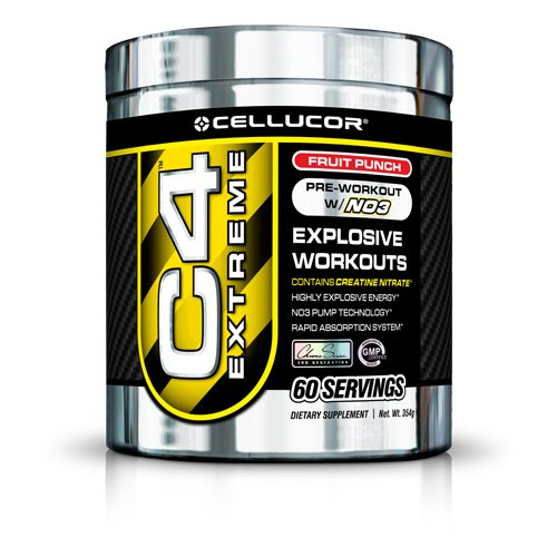 Cellucor Cellucor C4 Extreme Pre-Workout with Nitric Oxide 3, Fruit Punch 60 servings (Quantity of 1)