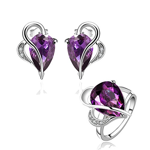 amethyst-jewelry-sets-crystal-teardrop-heart-pendant-necklace-stud-earrings-band-rings-for-love-her
