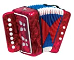 Child's 7 Key Melodeon Accordion - Red