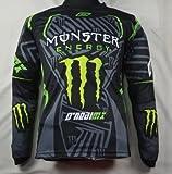 カー モンスターエナジー バイク用品 新デザイン オートバイ 保護装備長袖Tシャツ レーシングスーツ Monster Energy (L)
