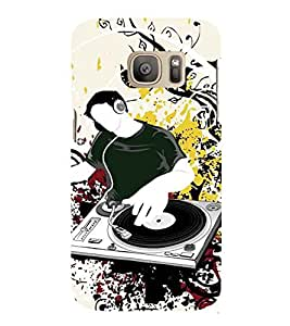 Printvisa Dj Introducing New Music Back Case Cover for Samsung Galaxy S7 edge::Samsung Galaxy S7 edge Duos with dual