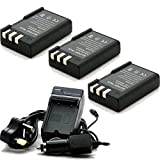 TOP-MAX Charger + 3X battery for EN-EL9 For Nikon D3000 D5000 D60 D40x D40