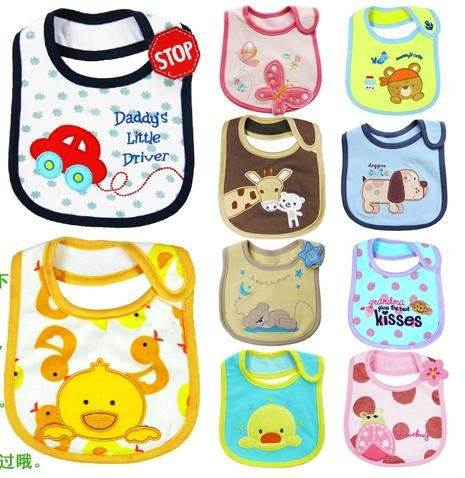 2 Pcs/set New Fashion 2012 Designer Baby Bibs