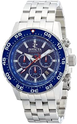 Invicta 1469 Reserve Ocean Master Automatic Stainless Steel Blue Dial Men's Watch from Invicta