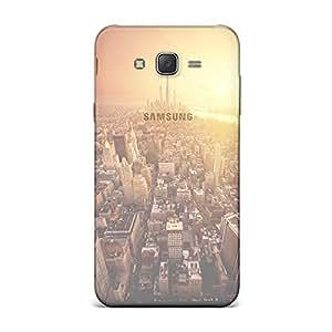 Samsung J7 Transparent Printed Design [Scratchproof + Protective] - Nature Golden Sunshine Cityscape Overview Case