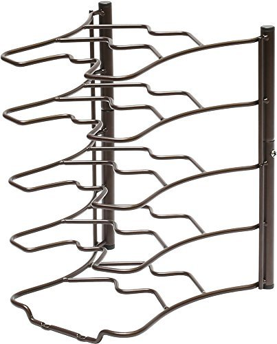 Bronze Pan Organizer W/BONUS Anti-Overflowing Tools - Gifts Worth $27- Rack Kitchen Storage- Cabinet Rack Shelves- Holder for Frying Pans (Easy Assembly)- Premium Cookware, Kitchen Tools & Gadgets (Anyone Can Cook In A Slow Cooker compare prices)
