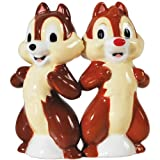 Westland Giftware Magnetic Ceramic Disney Chip and Dale Salt and Pepper Shaker Set, 4-Inch