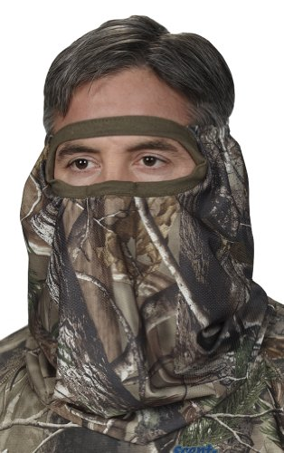 Hunters Specialties Men's Spandex Camo Flex Form Face Mask (Realtree AP, One Size Fits Most)