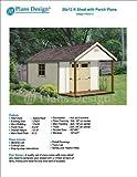 20' x 12' Cabin Loft Utility Shed with Porch Plans / Plueprint - Design #P62012
