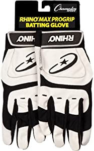 Buy Champion Sports Adult Rhino Max Pro Grip Batting Gloves by Champion Sports