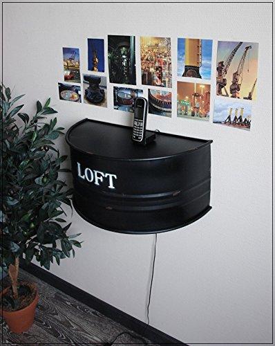 Wandkonsole-Oelfass-im-Industrie-Design