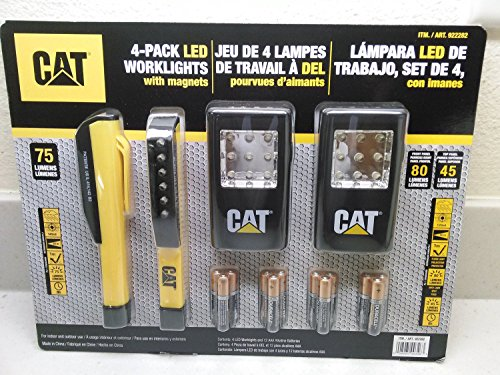 cat-4-pack-led-worklights-with-magnets-and-includes-12-duracell-aaa-alkaline-batteries