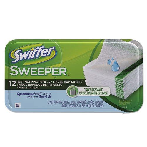 Swiffer - Wet Refill System, Cloth, Open Window Fresh, White, 12/Box, 12 Boxes/Carton 35154Ct (Dmi Ct