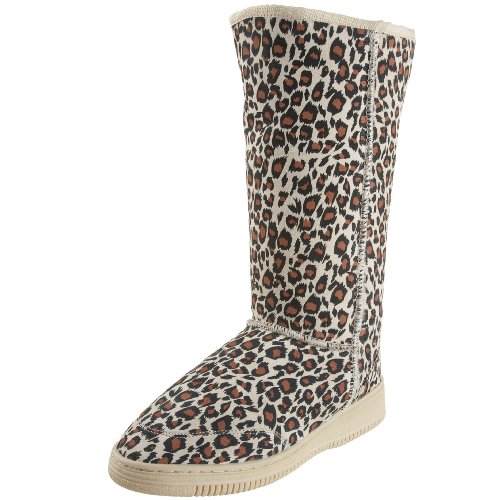 Aussie Dogs Unisex  Leopard Tall Boot Boot,Natural,6/7 M US
