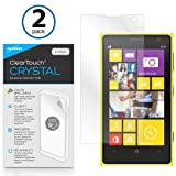 BoxWave Nokia Lumia 1020 ClearTouch Crystal (2-Pack) Screen Protector - Premium Quality, Ultra Crystal Clear Film Skin to Shield Against Scratches (Includes Lint Free Cleaning Cloth & Applicator Card) - Nokia Lumia 1020 Screen Guards and Covers