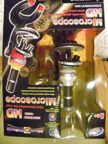 250 X/ 500X/1000X Hd New Generation Die Cast Microscope